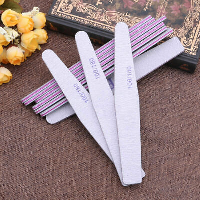 Nail Art Sanding Files Polish Acrylic Block Buffer Manicure Tips Tools 10pcs