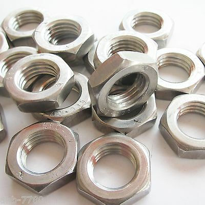 Hex nut DIN 439 Stainless steel A2 Low Form, Shape B also with Fine thread