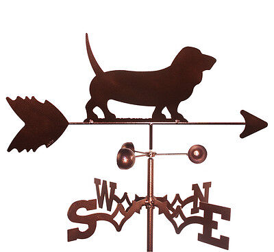 Basset Hound Weathervane  (Roof Mounting Included)