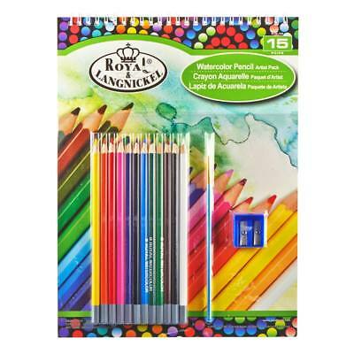 NEW Royal Brush 9x12 Watercolor Pencil Pad Set RTN-105
