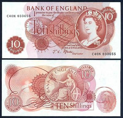 GREAT BRITAIN 10 Shillings 1960-70​ UNC P 373 c