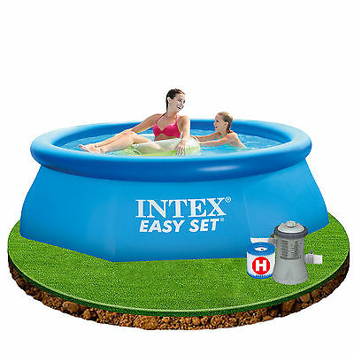 Intex 8ft x 30in East Set Inflatable Swimming Pool with filter pump #28112