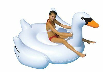 Swimline Giant Inflatable Ride-On 75-Inch Swan Float For Swimming Pools | 90621