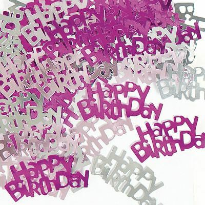14g Happy Birthday Hot Pink Table confetti - fab gold stardust at a great price