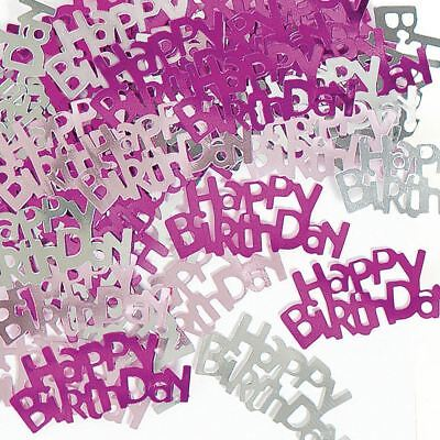 Pink Confetti Sprinkles Happy Birthday Party Table Decoration 14g Girl Female