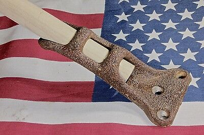 "3/4"" old Flag Pole bracket holder textured rustic iron banner rust color vintage"