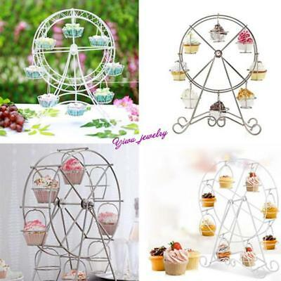 8 Cup Ferris Wheel Durable Cupcake Stands Muffin Holder Display Party Tool Y2