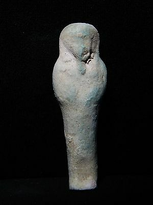 Zurqieh - Ancient Egypt . Beautiful Ancient Ushabti ,  600 - 300 B.c