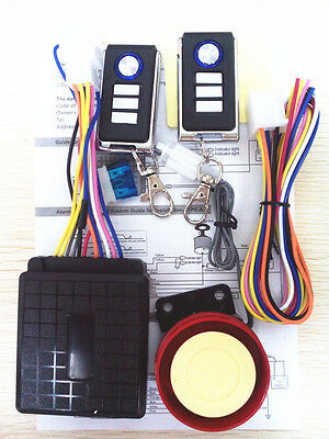 Motorcycle Motorbike Alarm System Security Immobiliser Remote Control Anti-theft