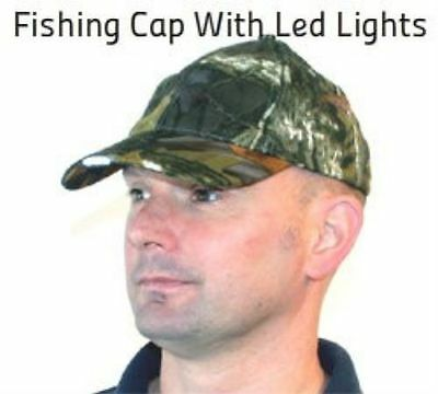 Grandeslam Camo Cap With Led Lights Hunting Carp Coarse Night Fishing Hat New