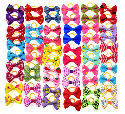 20pc/10pairs Pet Dog Hair Bows Rubber Bands Pet Grooming Hair bows Dog Topknot