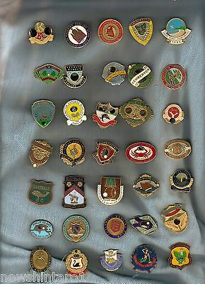 #ww. #1. 35 Bowling Club Badges, No Clips On The Back