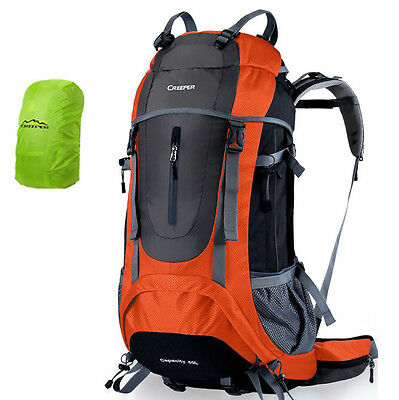 45 60 65L Waterproof Outdoor Sports Travel Backpack Internal Frame Bag RainCover
