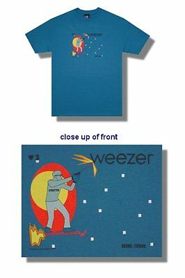 Weezer- NEW Strutter BLUE T Shirt- XLarge FREE SHIPPING TO U.S.!