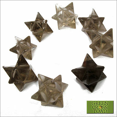 1 x Smoky Quartz Crystal Merkaba Merkabah Star Vehicle of Divine Light 20mm