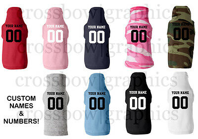 CUSTOM  PET JERSEY T-Shirt Personalized ANY COLOR Name Number Dog Canine New!
