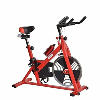 Soozier Upright Indoor Cycling Stationary Bike Bicycle Cardio Exercise Workout