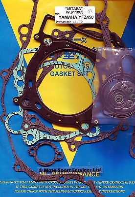 Full Engine Gasket Set Yamaha QUAD YFZ450 YFZ 450 2004 to 2010 Mitaka