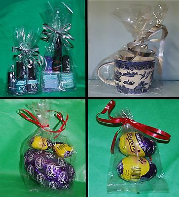 Clear Cellophane Gusset Bag Party Bags Favour Crafts Sweets Display Gifts Cello