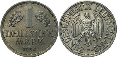 B336 J.385  BRD 1 Deutsch Mark 1950 F