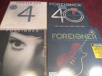 Foreigner Rare Inside Information 1987 & Four 1981 Issues + Foreigner 40 + Live