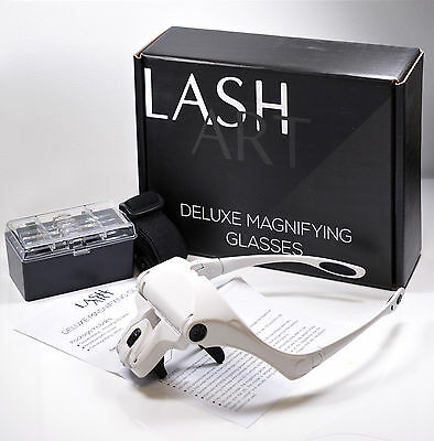 LashArt Deluxe Magnifier Hands Free Magnifying Glass CE MARK Eyelash Extension