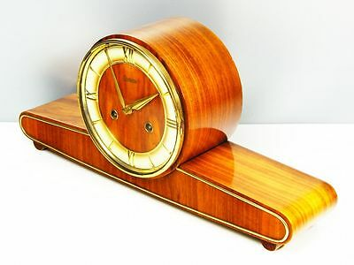Beautiful Art Deco Design Chiming Mantel Clock From  Kieninger