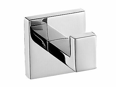 304 Stainless Steel Wall Mount Square Towel Hook Hat Door Hanger Mirror Polished