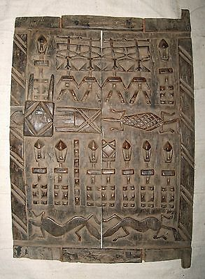 African Dogon Granary Door authentic sculpture about 15 x 21 inches sfdd3