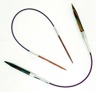 KnitPro Symfonie Wood Short Fixed Circular Needles length 25cm sizes 2mm - 5mm