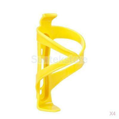 4x Yellow Plastic Water Bottle Cage Holder Rack for Bicycle Bike Cycle Cycling