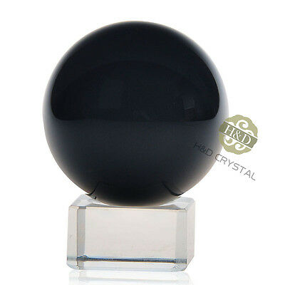 Black Asian Rare Natural Quartz Magic Crystal Healing Ball Sphere 40mm + Stand