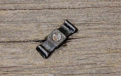 "1 1/4"" Jelly cupboard cabinet flat bow tie turn button latch old vintage iron"