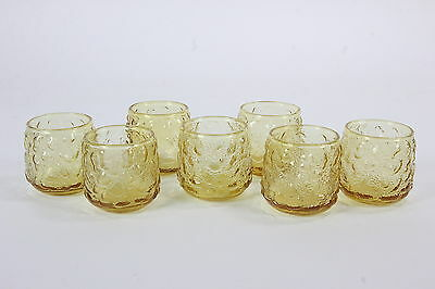 Lido Milano Roly Poly Amber Juice Cocktail Tumblers Beverage Glasses