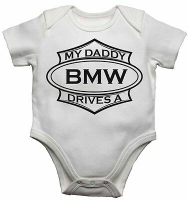 My Daddy Drives a BMW Baby Grow Vest Gift