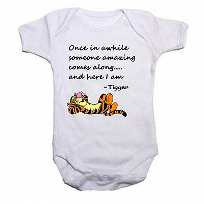 Tigger Beautiful Quotation Baby Vest Bodysuit Babygrow Gift