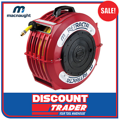 Macnaught 10mm x 20m RETRACTA High Quality Compressed Air Hose Reel AR100 AR2101