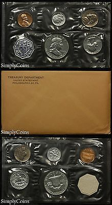 1962 Proof Set With COA ~ Flat Pack Original Envelope ~ US Silver Mint Coin Set