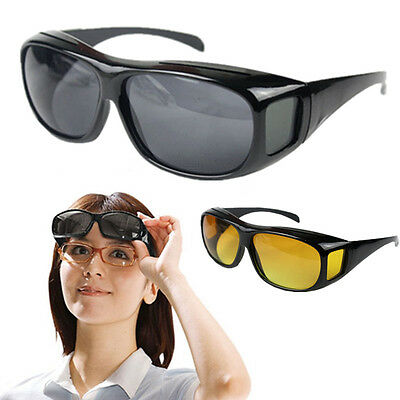 Unisex HD Night Vision Driving Sunglasses nice Over Wrap Around Glasses Fashion