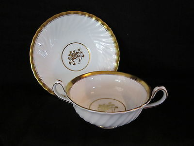 Minton GOLD ROSE- Cream Soup Bowl & Stand