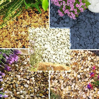 1 to 30kg Gravel Chippings Deter Weed Garden Path Patio Pathway Plant Top Stone