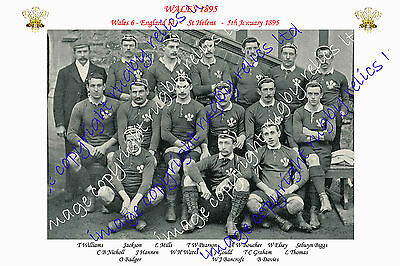 WALES 1885 (v England) INTERNATIONAL RUGBY TEAM PHOTOGRAPH