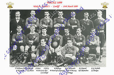 WALES (v Ireland) 1899 INTERNATIONAL RUGBY TEAM PHOTOGRAPH