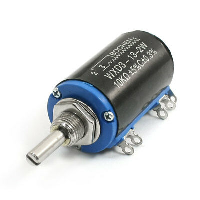 WXD3-13 10K Ohm 2W Rotary Wire Wound Multiturn Taper Pot Potentiometer