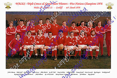 WALES 1976 GRAND SLAM WINNING RUGBY TEAM PHOTOGRAPH or POSTCARD (v France)