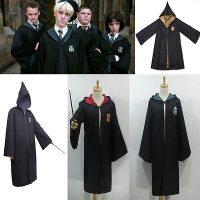 Hot Harry Potter magia Costume Mantello Robe Capo Halloween Cosplay Dress Up Set
