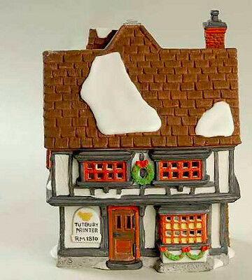 DEPT 56 DICKENS VILLAGE *TUTBURY PRINTER* 55689 RETIRED IN BOX EXCELLENT