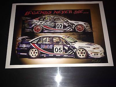 Legends Never Die Peter Brock And Tander Print