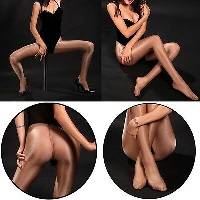Women Sexy Sheer Oil Shiny Glossy Stockings Pantyhose Tights Opaque Hosiery