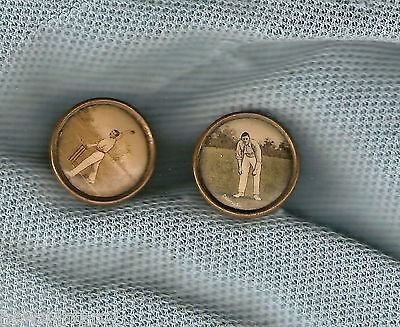 #d180. Pair Of Old Cricket Buttons